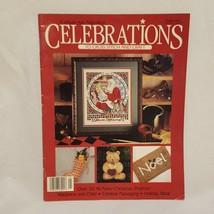 Celebrations to Cross Stitch Magazine Leisure Arts Premier Issue 1989 Sa... - $14.99