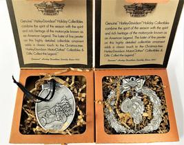 Harley Davidson Pewter Christmas Ornament Cruisin / Starry Night Lot of ... - $77.55