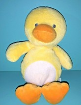 """Carters Child Of Mine Yellow Duck 8"""" Plush Rattle White Tummy Baby Lovey - $19.95"""