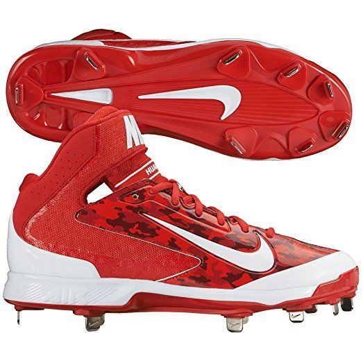 43d01dc630371 S l1600. S l1600. Previous. NIKE AIR HUARACHE Pro Mid Metal Baseball Cleats  New Red Camo Men s 599235 13