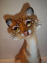 Fenton Glass Natural Bobcat Alley Cat Figurine Ltd Ed GSE #2/20 J.K. Spi... - $339.02