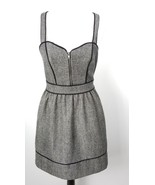Kimchi Blue Dress 6 Black Tweed Wool Metallic Thread Urban Outfitters Lined - $32.66