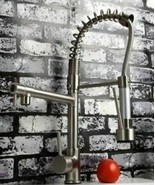 Brushed Nickel Bar / Kitchen Sink Pull-out Spray Faucet Staineless steel... - $125.91