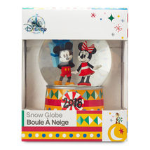 Disney 2018 Mickey Mouse and Minnie Mouse Holiday Snowglobe NEW IN BOX - $216.98