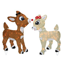 "Northlight 32"" Rudolph The Red Nosed Reindeer Clarice Outdoor Christmas ... - $77.95"