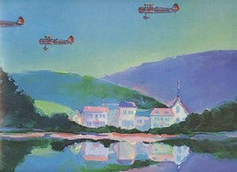 Reflections of Richtofen Print by Baker Red Baron 22 1/2 inches x 17 3/4... - $27.69