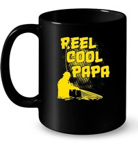 Reel Cool Papa funny Father's Day Fishing Ceramic Mug - $13.99+