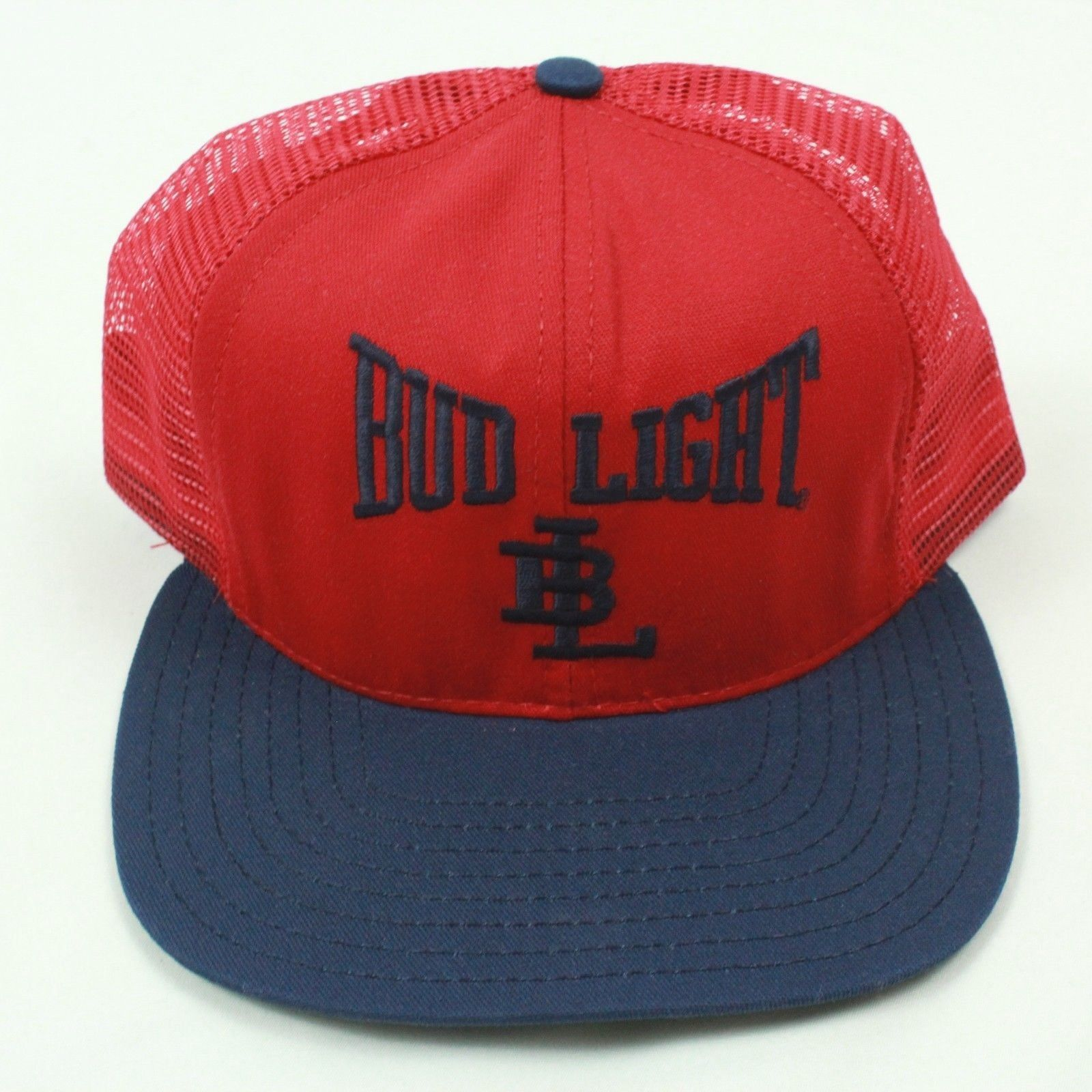 de2ab62e ... NEW VINTAGE Bud Light Trucker Hat Flat Bill Baseball Cap RARE OG  Snapback USA ...