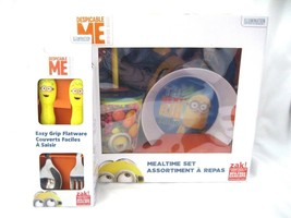 Despicable Me Minions Mealtime Dinnerware Set-Bowl,Plate,Cup,and Flatwar... - $59.39