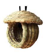 DRAGON SONIC Outdoor Bird Nest Braided Birdcage Grass Nest Bird Breeding... - $19.99