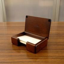 Toyooka Craft Wood Compact business card holder W 10.9 cm x D 7.1 cm x H... - $48.51