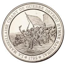 L'Historie de France Silver Medal Proof La Marsailles Uncirculated - $118.80