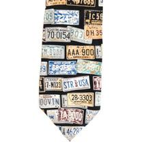 Structure License Plates Silk Necktie Tie image 2