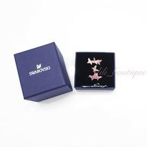 NIB Swarovski 5409020 Lilia Butterfly Three Ring Set Crystal Rose Gold Size 52 - $74.95