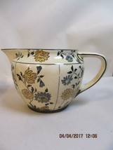 Royal Doulton Handpainted Paneled Floral Pitcher Jug Ironstone Ceramic Very Old - $64.35