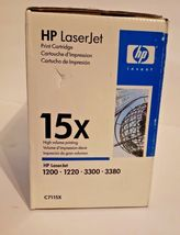 New GENUINE HP LASERJET 15X BLACK TONER C7115X image 4