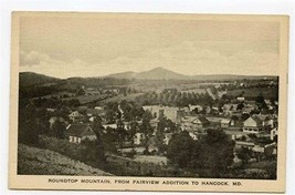 Roundtop Mountain From Fairview Addition Postcard Hancock Maryland - $17.82