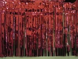 "Metallic burgundy Fringed Garland Valance Party decoration 10 ft long x 15"" - $7.91"