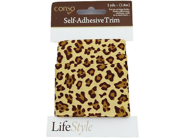 Conso Self-Adhesive Trim, Leopard Print, 2 Yards