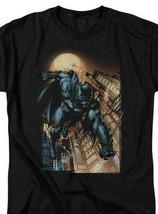 Bat Man T-shirt comic book cartoon DC modern art black superhero tee DCR100 image 1