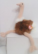 "1998 TY Beanie Buddies "" Stretch"" the Ostrich : PE Pellets : China Made ... - $7.72"