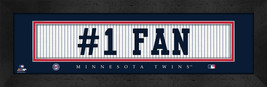 "Minnesota Twins ""#1 Fan"" 8 x 24 Slogan Stitched Jersey Framed Print - $39.95"