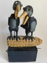 "Vintage Christopher Blake Dept. 56 Crows on Corn Animated Figurine 8"" - $120.94"
