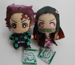 Demon Slayer Tanjiro Nezuko Plush Doll 2 Set 6Tomonui Kimetsu no Yaiba A... - $65.34
