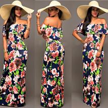 Ruffle Off Shoulder Maxi Dress At Bling Brides Bouquet Online Bridal Store image 11