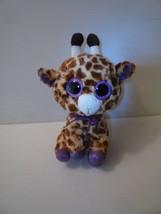 "Ty Beanie Boo "" Safari"" 9 inch Plush Giraffe Animal w/ Glitter Eyes MINT... - $11.88"