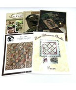 5 Quilting Pattern Books Flowers Garden Crow Civil War Peace Sewing - $28.98