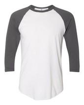 American Apparel 50/50 Raglan 3/4 Manche T-shirt M Blanc Asphalt BB453W ... - £15.66 GBP