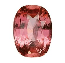 NO HEAT GIA Certified Padparadscha Sapphire, 3.22 Cushion Orangy Pink. - $8,750.00