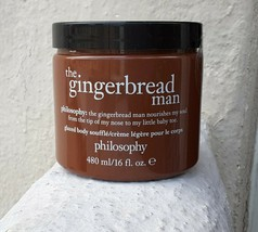 "NEW Philosophy ""The Gingerbread Man"" Supersized Glazed Body Soufflé 16 fl oz. - $29.00"