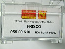 Micro-Trains # 05500610 Frisco 33' Twin Bay Hopper, Offset Sides No Load N-Scale image 6