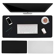 "PB PEGGYBUY Desk Pad, Office Desk Mat, 35.4"" x 15.75"" PU Leather Desk Pa... - $19.82"