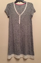 DKNY Serendipity Short Sleeves Rayon Chemise Y2613285 Black Mittens XS - $17.10