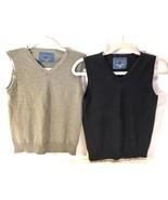 Zara Lot Of 2 Vest Blue Gray Boys 8 - 9 Medium euc - $13.45