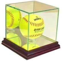 Perfect Cases MLB Softball Glass Display Case, Cherry - $31.95