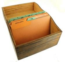 "ANTIQUE DECO WOODEN OAK SINGLE FILE BOX OFFICE DESK CASE DOVETAILED 6 1/2"" - $89.98"