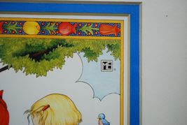 "Mary Engelbreit Framed Wall Hanging Art Print ""Made A Wish"" 2 Girls Wood Frame image 6"