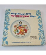 Disney Snow White 1975 Schmid Mother's Day Plate with Box - $24.70