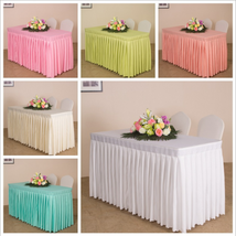 Plain Fabric Tablecloth Rectangular Clean Table Cloth Table Skirt Party ... - $46.99
