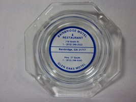 Vintage Bainbridge Motel Clear Glass Collector Ashtray Glen Oaks Motel - $9.89
