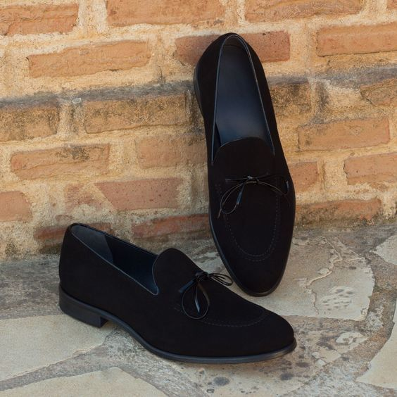 a73cb514f3e Handmade Men black suede Loafer moccasins shoes