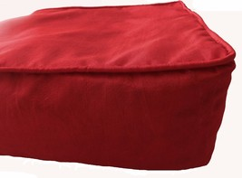 """Box Cushion Cover Solid Polyester 20x20x5"""" Burgundy with Piping & Zipper - $19.80"""