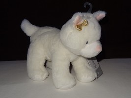 "NWT Carters Plush Toy Stuffed Animal White Gold Bow 9"" Cat Kitty Kitten ... - $21.99"