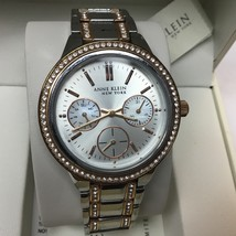 Anne Klein 12/2297SVRT Women's Two-Tone Swarovski Crystal Watch - $42.56