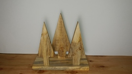 Handcrafted Folk Art Christmas Tree decor, Crafted from reclaimed wood - $12.77