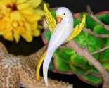 Vintage parakeet budgie parrot bird brooch pin enamel yellow white thumb155 crop
